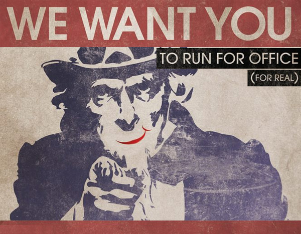 We Want You to Run for Office